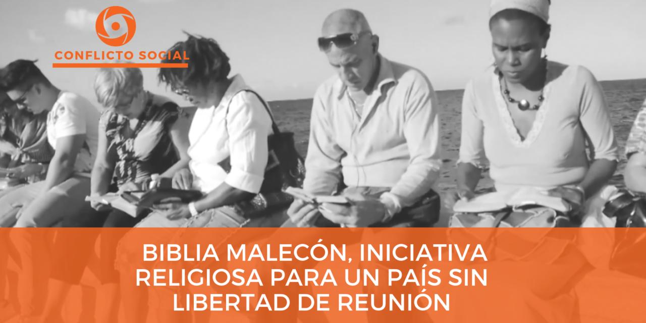 Biblia Malecón, iniciativa religiosa para un país sin libertad de reunión
