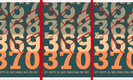 Ley Azote: Decreto 370 un paso más hacia el neofascismo