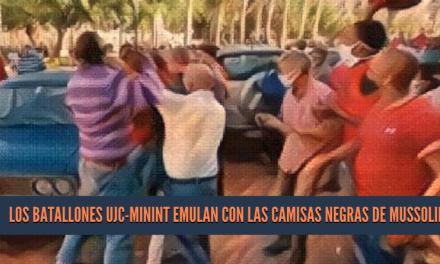 Los batallones UJC-MININT emulan con las Camisas Negras de Mussolini