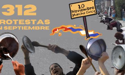 312 PROTESTAS EN CUBA: CONTINÚA LA TORMENTA PERFECTA